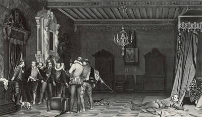 Painting By Paul Delaroche Assassinat Du Duc De Guise Au Art Print