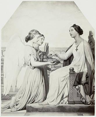 Painting By Paul Delaroche Sainte Cecile Art Print