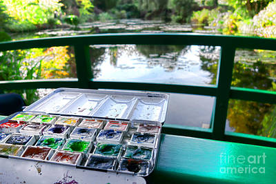 Painter Photograph - Painting In Giverny by Olivier Le Queinec
