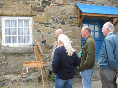 Photograph - Painting In Mousehole by Nop Briex