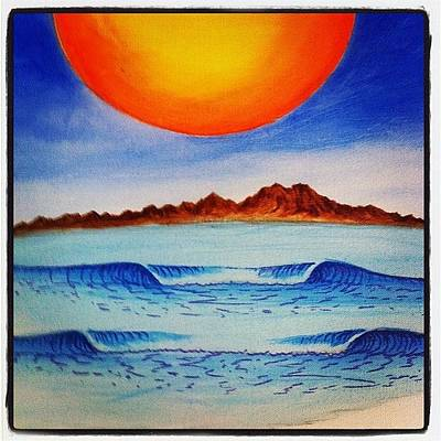 Photograph - #painting In Progress #sunset  #surfart by Paul Carter