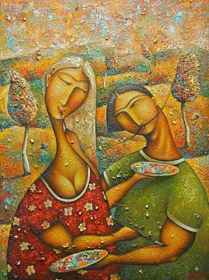 Painting - Painting Love by Hayk Matsakyan