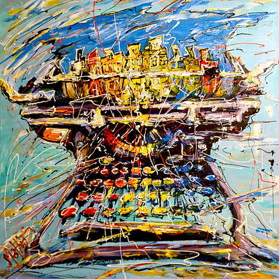 Typewriter Painting - Painting Machine by Mathias