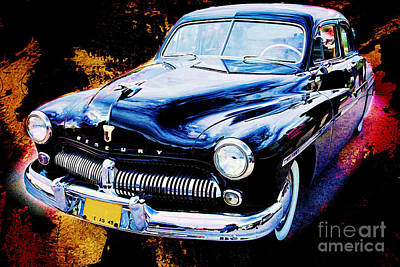 Painting Of A 1949 Mercury Classic Car In Color 3193.02 Art Print