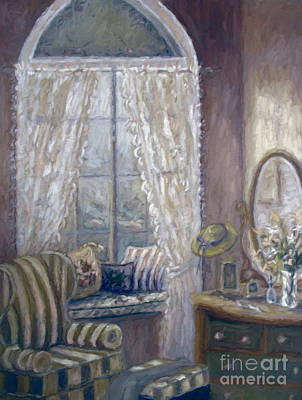 Altered Photograph - Painting Of A Child's Bedroom/ Digitally Altered by Sandra Cunningham