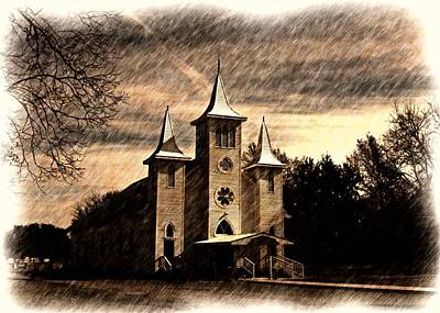 Photograph - Painting Of A Church by Ronald Olivier