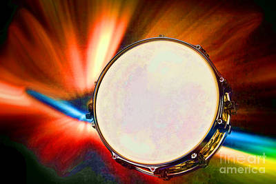 Painting - Painting Of A Snare Drum For Drum Set In Color 3246.02 by M K Miller