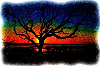 Photograph - Painting Of A Tree by Ronald Olivier