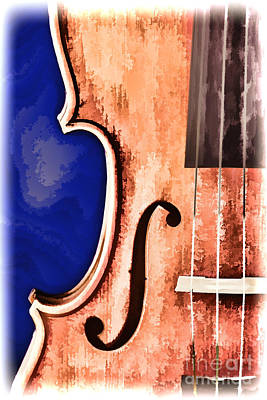 Painting - Painting Of A Viola Violin Side In Color 3373.02 by M K  Miller