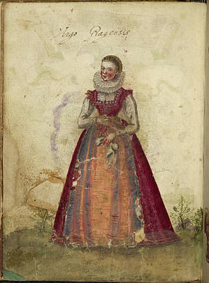 Painting Of A Woman Art Print by British Library