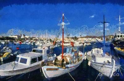 Aegina Port Art Print by George Atsametakis