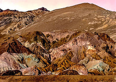 Painting - Painting Of Artists Pallete Death Valley by Bob and Nadine Johnston