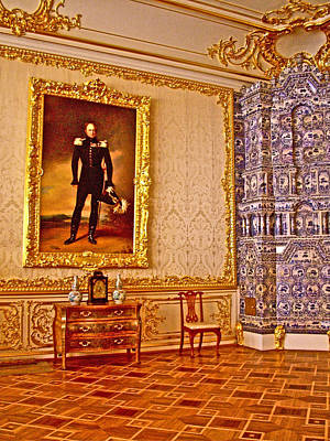 Catherine Palace In Russia Photograph - Painting Of Catherine's Significant Other In Catherine's Palace In Pushkin-russia by Ruth Hager