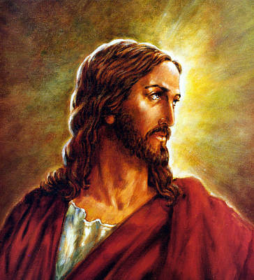 Painting Of Christ Art Print by John Lautermilch