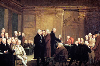 Revolutionary War Of 1776 Painting - Painting Of First Continental Congress by Vintage Images