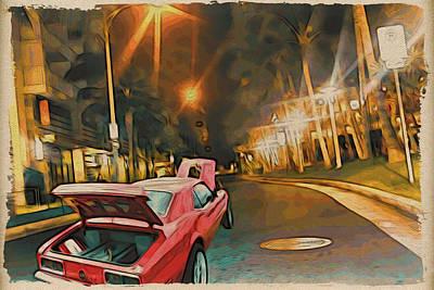Painting Of Lewers St. Waikiki Original