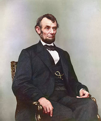Politicians Royalty-Free and Rights-Managed Images - Painting Of President Abraham Lincoln by Stocktrek Images