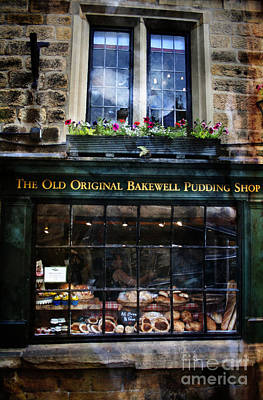 Painting - Can You See The Ghost In The Top Window At The Old Original Bakewell Pudding Shop by Doc Braham