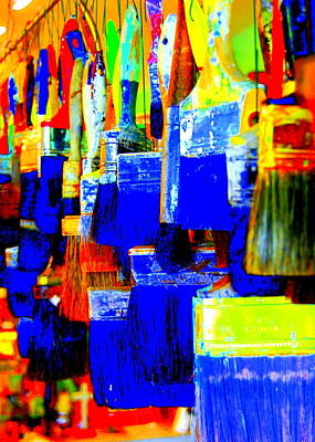 Painting Paintbrushes  Art Print by Mamie Gunning