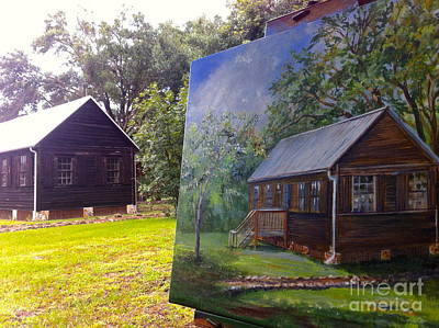 Photograph - Painting Sams Cabin by AnnaJo Vahle