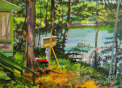 Northwoods Painting - Painting Site by William Bukowski