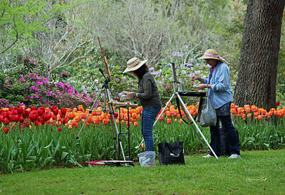 Artist Working Photograph - Painting Springtime  by Suzanne Gaff