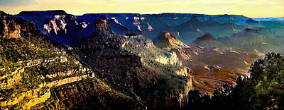 Photograph - Painting The Sunrise Grand Canyons by Bob and Nadine Johnston