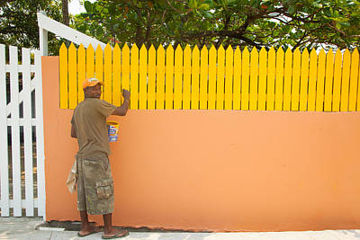 Photograph - Painting The Fence by Susan Rovira