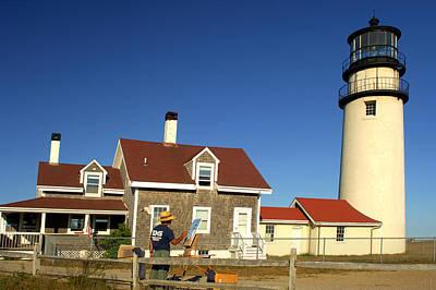 Travel - Painting the Highland Light House by Randall Branham
