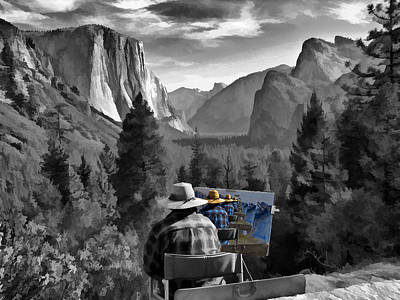 El Capitan Painting - Painting Yosemite by John Haldane