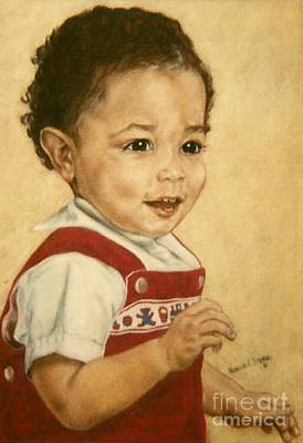 Painting - Paintings By Monica C. Stovall - Pastel Portrait Collection N. Pp38  by Monica C Stovall