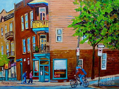 Wilenskys Painting - Paintings Of Montreal Streets Wilenskys Lunch Counter by Carole Spandau