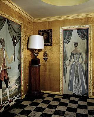 California Photograph - Paintings On The Walls Of Tony Duquette's House by Shirley C. Burden