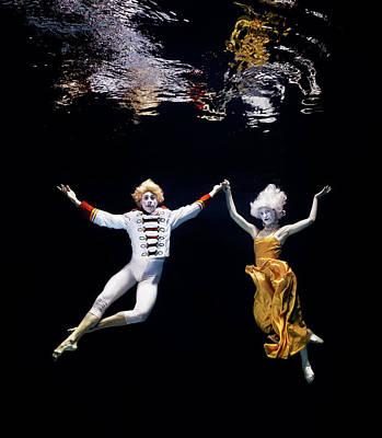 Photograph - Pair Of Ballet Dancers Underwater by Henrik Sorensen