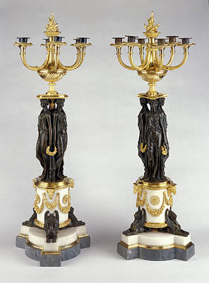 Pair Of Candelabra Attributed To Pierre-philippe Thomire Art Print by Litz Collection