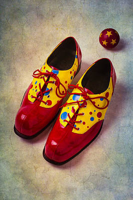 Pair Of Clown Shoes Art Print