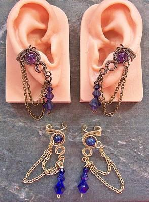 Ear Cuff Jewelry - Pair Of Customizable Woven Ear Cuffs by Heather Jordan