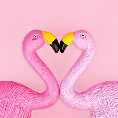 Photograph - Pair Of Flamingos by Juj Winn