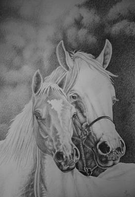 Drawing - Pair Of Horses by Zdzislaw Dudek