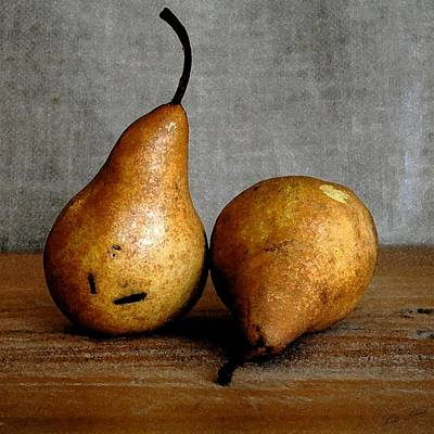 Faa Artist Drawing - Pair Of Pears by Cole Black