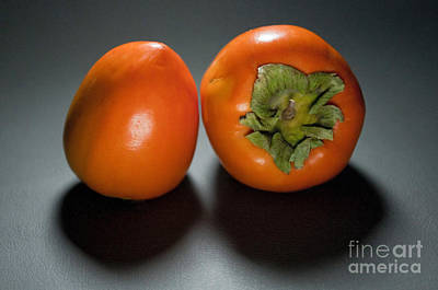 Persimmon Photograph - Pair Of Persimmons by Dan Holm