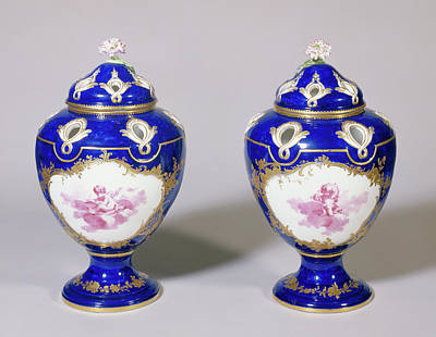 Vincennes Drawing - Pair Of Potpourri Vases Potspourris Pompadour, Troisième by Litz Collection