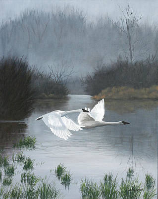 Swans... Painting - Pair Of Swans by Julie Peterson