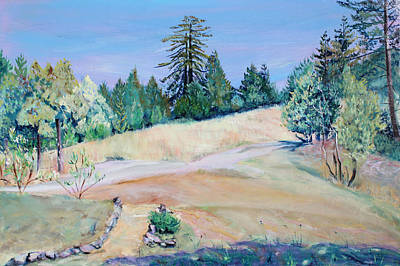 Painting - Pair Of Thousand Year Old Redwood Trees by Asha Carolyn Young