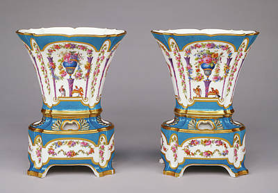Pair Of Vases Vases Hollandois Nouveaux, Deuxième Grandeur Art Print by Litz Collection