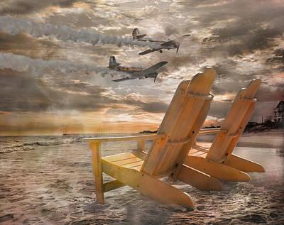 Yak Digital Art - Pairs Along The Coast by Betsy Knapp