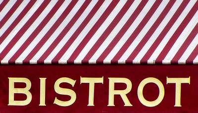 Photograph - Paris Bistro Sign by Tony Grider