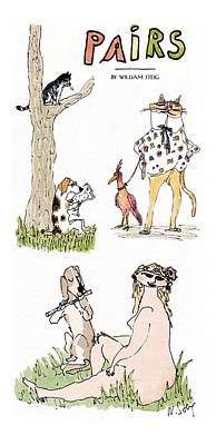 'pairs' Art Print by William Steig