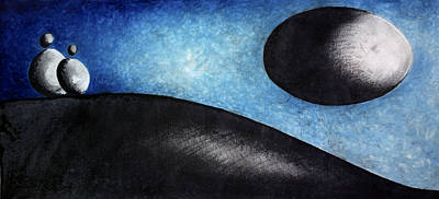 Love Poem Drawing - Paisaje -  Scenery by Juan Jimenez