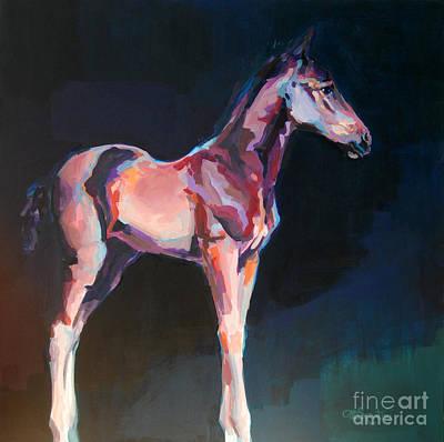 Race Horse Painting - Paisano by Kimberly Santini